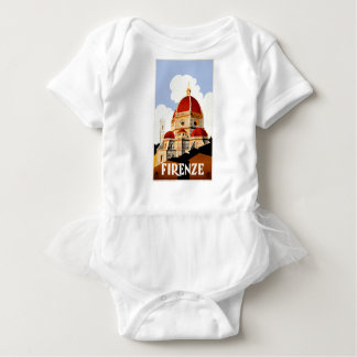 1930 Florence Italy Travel Poster Baby Bodysuit