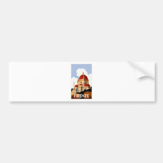 1930 Florence Italy Travel Poster Bumper Sticker