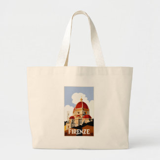 1930 Florence Italy Travel Poster Large Tote Bag