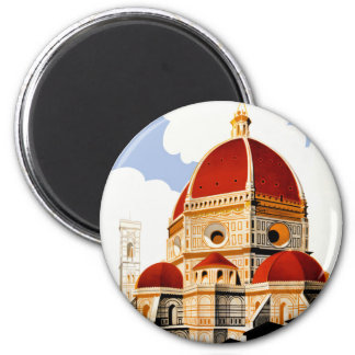 1930 Florence Italy Travel Poster Magnet