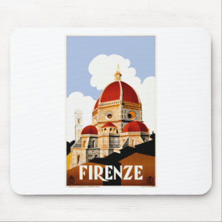1930 Florence Italy Travel Poster Mouse Pad