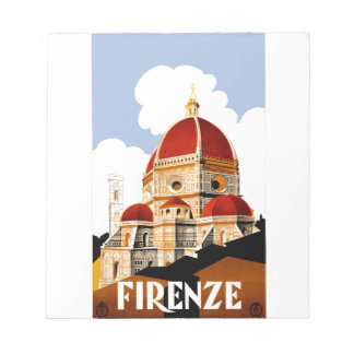 1930 Florence Italy Travel Poster Notepad