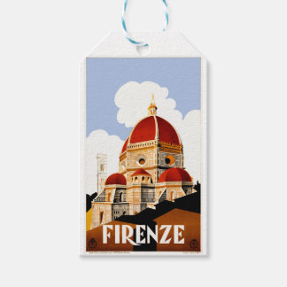 1930 Florence Italy Travel Poster Pack Of Gift Tags