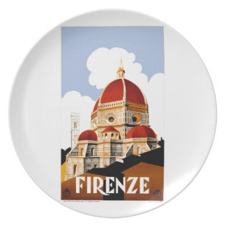 1930 Florence Italy Travel Poster Plate