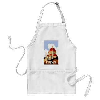 1930 Florence Italy Travel Poster Standard Apron