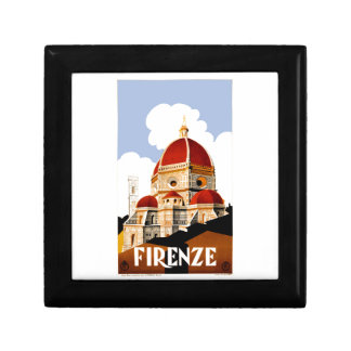 1930 Florence Italy Travel Poster Trinket Boxes