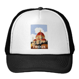 1930 Florence Italy Travel Poster Trucker Hat