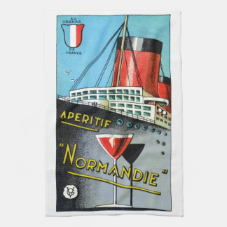 1930 French Apertif Normandie Kitchen Towel
