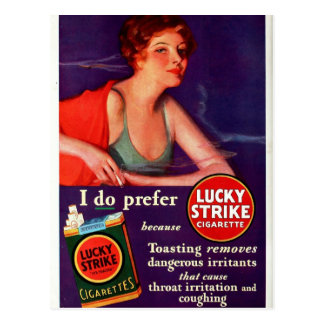 1930 Lucky Strike Postcard