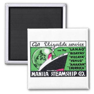 1930 Manila Steamship Company Square Magnet
