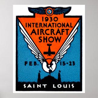 1930 St. Louis Air Show Poster