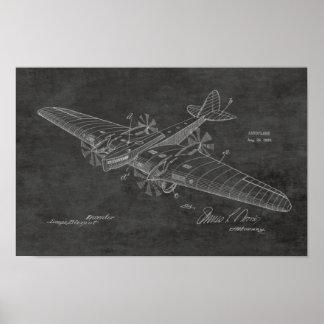 1930 Vintage Boat Airplane Patent Drawing Print
