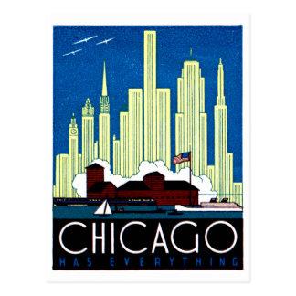 1930 Visit Chicago Poster Post Card