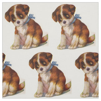 1930s adorable puppy no. 2 novelty print fabric
