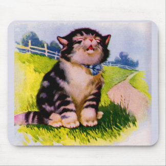 1930s adorable singing kitten mouse pad