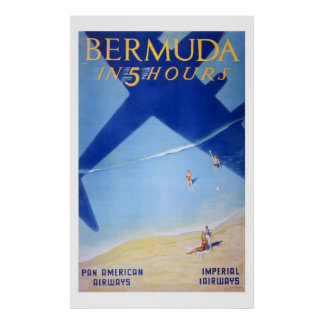 1930s Art Deco Aviation Poster