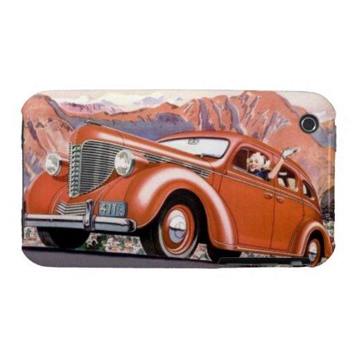 1930's Blonde in a Red Motor Car iPhone 3 Case