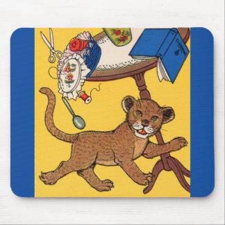 1930s careless little leopard cub mouse pad
