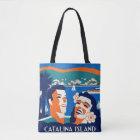 1930s Catalina Island Luggage Tag Design Tote Bag
