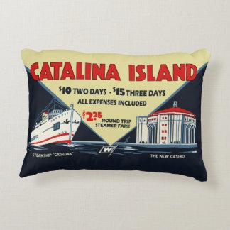 1930s Catalina Island Promotional Art Accent Pillow