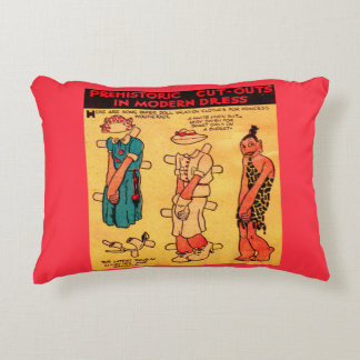 1930s comic strip paper doll Princess Wootietoot Accent Pillow