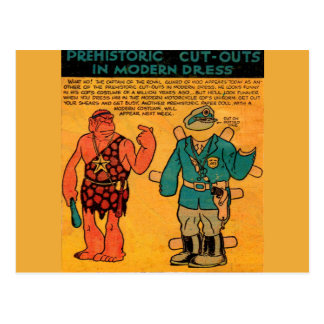 1930s comic strip paper doll Royal Guard of Moo Postcard