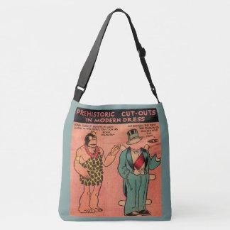 1930s comics cave man paper doll King Guzzle Crossbody Bag