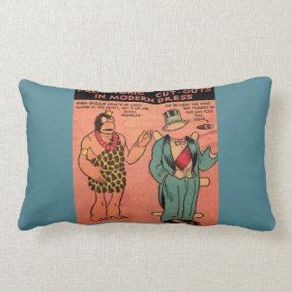 1930s comics cave man paper doll King Guzzle Lumbar Pillow