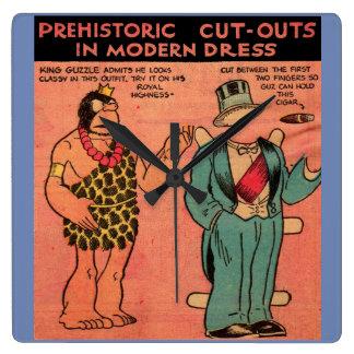 1930s comics cave man paper doll King Guzzle Square Wall Clock