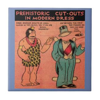 1930s comics cave man paper doll King Guzzle Tile