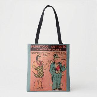 1930s comics cave man paper doll King Guzzle Tote Bag