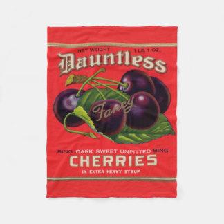 1930s Dauntless Cherries in Heavy Syrup can label Fleece Blanket
