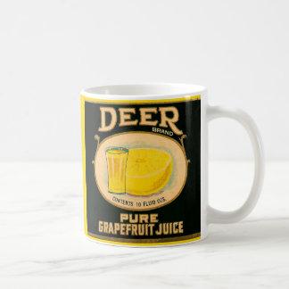 1930s Deer Brand Grapefruit Juice label Coffee Mug