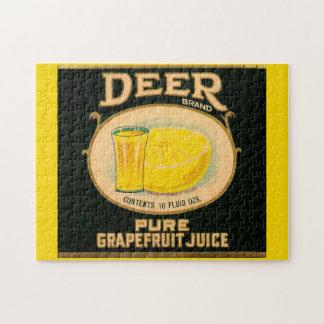 1930s Deer Brand Grapefruit Juice label Jigsaw Puzzle