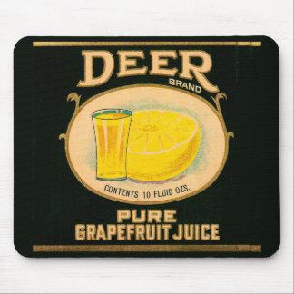 1930s Deer Brand Grapefruit Juice label Mouse Pad