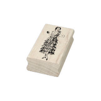 1930s Fashion Model Rubber Art Stamp