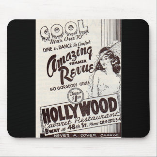 1930s Hollywood Cabaret Restaurant ad Mouse Pad