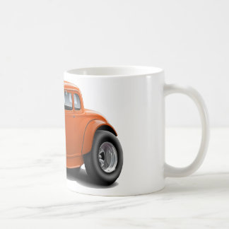 1930's Hot Rod Orange Car Coffee Mug