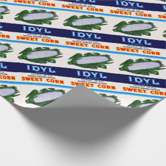 1930s Idyl Sweet Corn label print Wrapping Paper