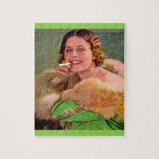 1930s lady smoker jigsaw puzzle