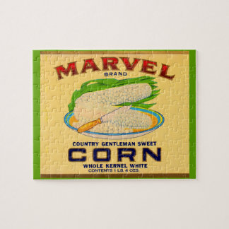 1930s Marvel canned corn label Jigsaw Puzzle