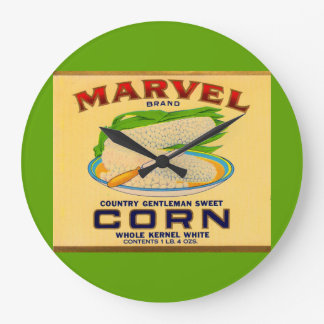 1930s Marvel canned corn label Large Clock