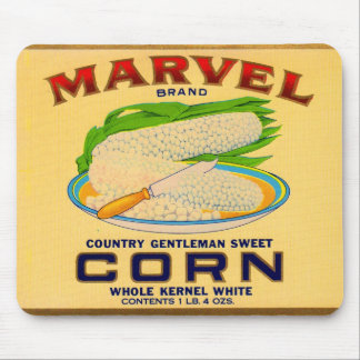 1930s Marvel canned corn label Mouse Pad