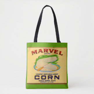 1930s Marvel canned corn label Tote Bag