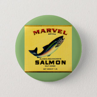 1930s Marvel salmon can label 2 Inch Round Button