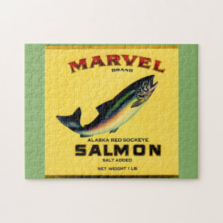 1930s Marvel salmon can label Jigsaw Puzzle