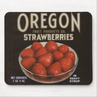 1930s Oregon Strawberries Mouse Pad
