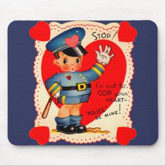 1930s police boy Valentine Mouse Pad