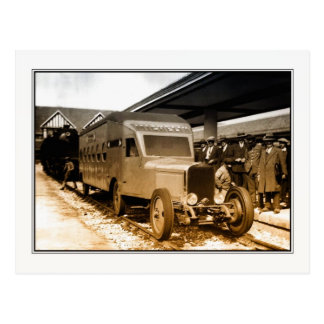 1930s Railway history curiosity French train-bus Postcard