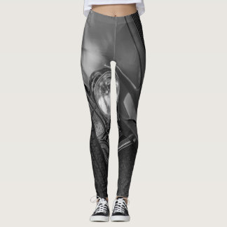 1930's Roadster Grayscale Leggings